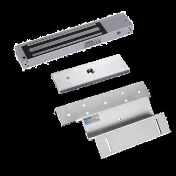 Kit de Chapa Electromagnética   600Lbs. CON sensor + Montaje Z - L  ZKTeco (LM-2805+L+Z)