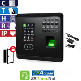 Reloj Marcador y Control de Acceso por Rostro, Huella, Tarjeta y Código, ZKTeco (MB360/ID)