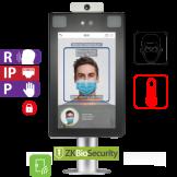 Control de Acceso por Rostro y Palma Touch con Detección de Temperatura e Identificación de Cubrebocas ZKTeco (ProFace X(CH/TD))
