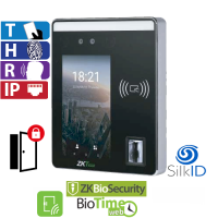 Reloj Marcador y Control de Acceso por Rostro, Huella y Tarjeta Touch ZKTeco (SpeedFace-H5L)