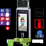Reloj Marcador y Control de Acceso por  Rostro,  Palma y Huella Touch con Detección de Temperatura e Identificación de Cubrebocas ZKTeco (SpeedFace-V5LTI)