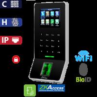 Control de Acceso por Huella y Código BioID Negro ZKTeco (F22/BL)