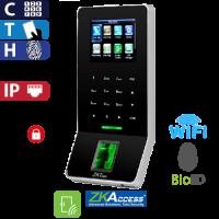 Control de Acceso por Huella, Tarjeta y Código BioID Negro ZKTeco (F22/ID/BL)