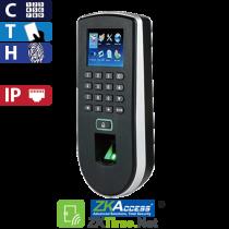Reloj Marcador y Control de Acceso por Huella, Tarjeta y Código, Color ZKTeco (F19/ID)
