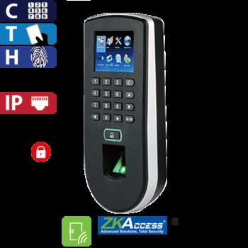 Control de Acceso por Huella, Tarjeta y Código, Color ZKTeco (F19/ID)