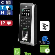 Reloj Marcador y Control de Acceso por Huella, Tarjeta y Código, Color ZK (F21/ID/ADMS)
