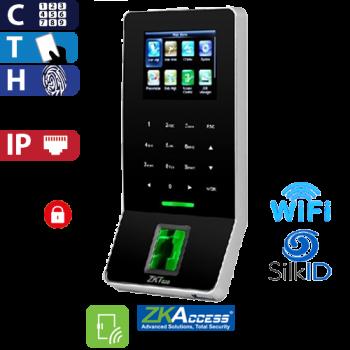 Control de Acceso por Huella, Tarjeta y Código, SilkId Negro ZKTeco (F22/ID/SilkID/BL)