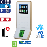 Control de Acceso por Huella, Tarjeta y Código, SilkId Blanco ZKTeco (F22/ID/SilkID/WH)