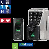Kit de Acceso por Huella, Tarjeta Y Código MA500/ID para una Puerta ZK (Entrada y Salida)