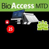 Software de Acceso BioAccess MTD / 2,000 Usuarios -  25 Equipos ZKTeco (ZKBA-TA-P25)