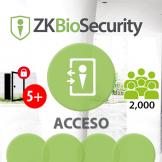 -Software de Acceso ZKBioSecurity V5000 (Licencia para  agregar 5 Puertas) ZKSoftware (ZKBS-AC-ADDON-P5)