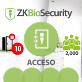 -Software de Acceso ZKBioSecurity V5000 (Licencia para 10 Puertas)  ZKSoftware (ZKBS-AC-P10)
