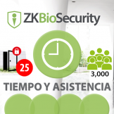 Software de Tiempo y Asistencia ZKBioSecurity V5000 (Licencia para  agregar 25 Relojes) TyA ZKSoftware (ZKBS-TA-P25)