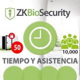 Software de Tiempo y Asistencia ZKBioSecurity V5000 (Licencia para  agregar 50 Relojes) TyA ZKSoftware (ZKBS-TA-P50)