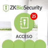 Software de Acceso ZKBioSecurity V5000 (Licencia para 25 Puertas) ZKSoftware (ZKBS-AC-P25)