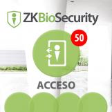 Software de Acceso ZKBioSecurity 3.0 (Licencia para 50 Puertas) ZKSoftware (ZKBS-AC-P50)