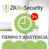 Software de Acceso ZKBioSecurity 3.0 (Licencia para  agregar  5 Relojes) TyA ZKSoftware (ZKBS-TA-ADDON-P5)