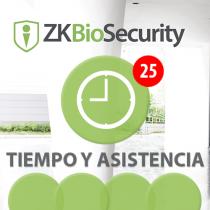 Software de Acceso ZKBioSecurity 3.0 (Licencia para  agregar 25 Relojes) T&A ZKSoftware (ZKBS-TA-P25)