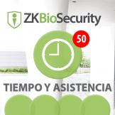 Software de Acceso ZKBioSecurity 3.0 (Licencia para  agregar 50 Relojes) TyA ZKSoftware (ZKBS-TA-P50)