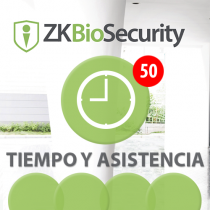 Software de Acceso ZKBioSecurity 3.0 (Licencia para  agregar 50 Relojes) T&A ZKSoftware (ZKBS-TA-P50)