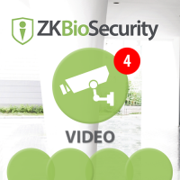 Software de Video (Liencia para  4 Cámaras)  para ZKBioSecurity 3.0 ZKTeco (ZKBio3.0/Vide)