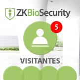 Software de Visitantes (Licencia 5 Estaciónes) para ZKBioSecurity V5000 (ZKBS-VIS-P5)