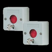 Caja con 2 Botones de Pánico con Llave (PAQ2UHO01)