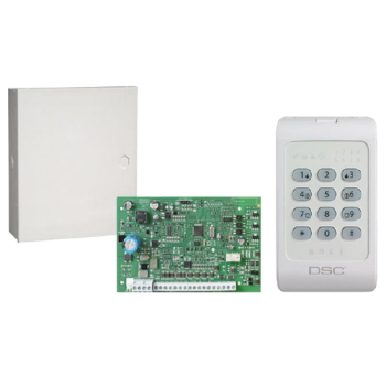 Kit: Alarma 1404 + Teclado + Gabinete LED DSC (KIT04-1SPA)