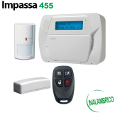 Kit de Alarma Inalámbrico IMPASSA Básico DSC compatible Alarm.com (KIT455-SPA)