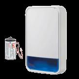 Sirena Inalámbrica Exterior PowerG con luz estroboscópica. Batería Incluida DSC (PG9911B BATT)