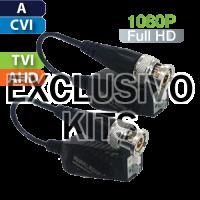 EXCLUSIVO KITS Balun Pasivo HD Multi-Formato Análogo/CVI/TVI/AHD / Par (UTP101PHD4B/K)