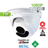 Cámara Domo IR HD-TVI 1080P Varifocal Motorizada 2.8-8mm IR 50 Mts. HomeSys by Avtech (VC852)