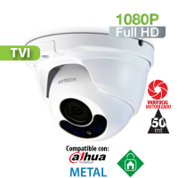 Cámara Domo IR HD-TVI 1080P Varifocal Motorizada 2.8-8mm IR 50 Mts. HomeSys by Avtech (VC852)