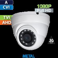 Cámara Domo IR HD-CVI 1080p  Saxxon by Dahua (DF3620TM)
