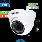 Cámara Domo IR HD-CVI 1080p Varifocal  Saxxon / Dahua (DVF2720TM)