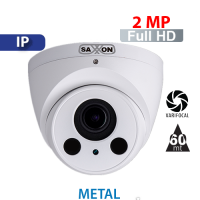 Cámara Domo IR IP 2 MP Varifocal Saxxon by Dahua (DM2720TM)