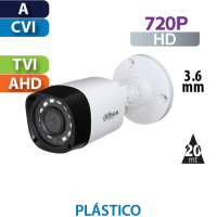 Cámara Bala IR HD-CVI  720p Dahua (HAC-HFW1000R-S3)