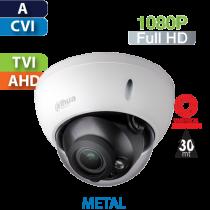Cámara Domo IR HD-CVI 1080p Varifocal Antivandalico Motorizado Dahua (HDBW1200R-Z-S4)