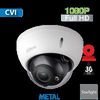 Cámara Domo IR HD-CVI 1080p Varifocal Motorizada 2.7-12mm Antivandalico StarLight Dahua (HDBW1230R-Z)
