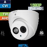 Cámara Domo IR HD-CVI 1080p IR 50 Mts CON AUDIO Dahua (HDW1200EM-A)