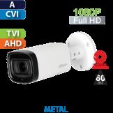 Cámara Bala IR HD-CVI 1080p Varifocal Motorizado IR 60 Mts Dahua (HFW1200R-Z-IRE6)