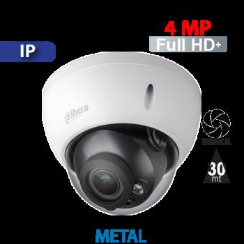 Cámara Domo IR IP 4MP Varifocal Motorizado Antivandálico Dahua (IPC-HDBW2431R-ZS)