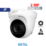 Cámara Domo IR IP 2MP - 1080p Varifocal 2.8-12mm Dahua (IPC-T2B20-ZS)