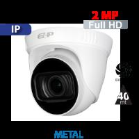 Cámara Domo IR IP 2MP - 1080p Varifocal 2.8-12mm Dahua (IPC-T2B20-ZS)