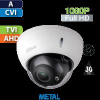 Cámara Domo IR HD-CVI 1080p Varifocal Antivandalico Dahua (HDBW1200RN-VF)