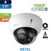 Cámara Domo IR HD-CVI 1080p Varifocal Antivandalico Dahua (HDBW1200R-Z-S4)