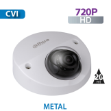 Cámara Domo IR HD-CVI  720p  Antivandalico para Vehículos, ATM´s Dahua (HAC-HDBW2120FN)