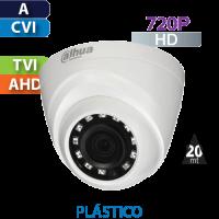Cámara Domo IR HD-CVI  720p  Dahua (HDW1000R-S3)