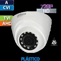 Cámara Domo IR HD-CVI  720p 2.8mm Dahua (HDW1000R-S3/28)