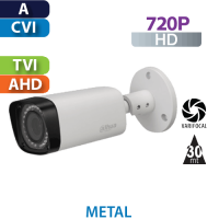 Cámara Bala IR HD-CVI  720p Varifocal Dahua  (HFW1100R-VF-S3)